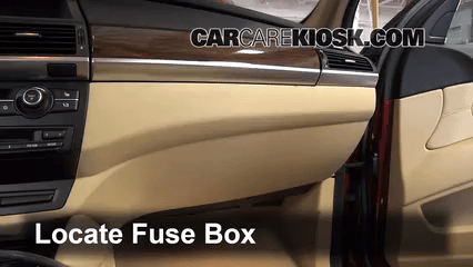 I Fuse Diagram Interior Fuse Box Location 2008 2014 Bmw X6 2010 Bmw X6