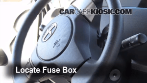 Interior Fuse Box Location: 20082015 Scion xB  2010