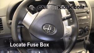 Interior Fuse Box Location: 20092013 Toyota Corolla  2010 Toyota Corolla S 18L 4 Cyl