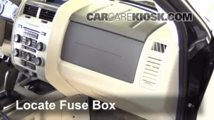 Interior Fuse Box Location: 20052012 Ford Escape  2011