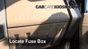 Interior Fuse Box Location: 20082014 Ford F250 Super