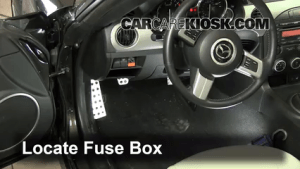 Interior Fuse Box Location: 20062015 Mazda MX5 Miata