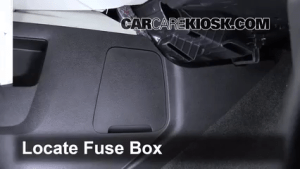 Interior Fuse Box Location: 20102015 Chevrolet Equinox  2010 Chevrolet Equinox LS 24L 4 Cyl