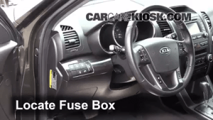 Interior Fuse Box Location: 20112013 Kia Sorento  2012