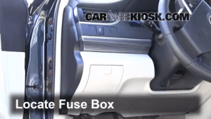Interior Fuse Box Location: 20122014 Toyota Camry  2012 Toyota Camry Hybrid XLE 25L 4 Cyl