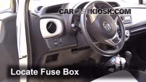 Interior Fuse Box Location: 20122016 Toyota Yaris  2012