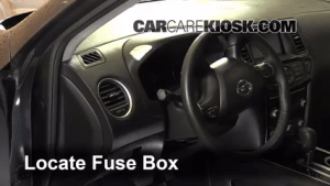 Interior Fuse Box Location: 20132014 Nissan Pathfinder  2013 Nissan Pathfinder SV 35L V6