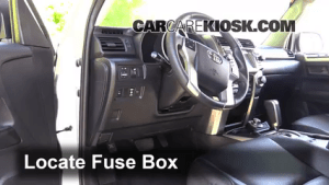 Interior Fuse Box Location: 20102016 Toyota 4Runner  2013 Toyota 4Runner Limited 40L V6
