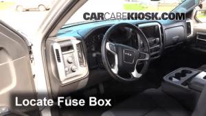 Interior Fuse Box Location: 20142016 GMC Sierra 1500  2014 GMC Sierra 1500 SLE 43L V6