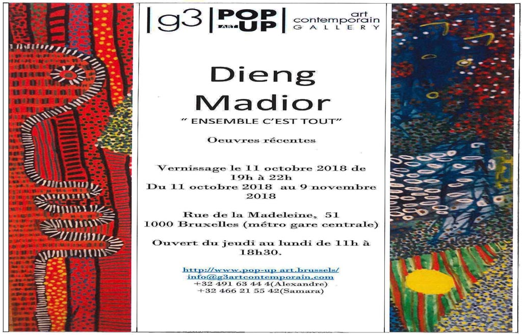 Vernissage de l'exposition de Madior Dieng