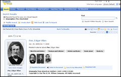 Wilson Biographies Screencap