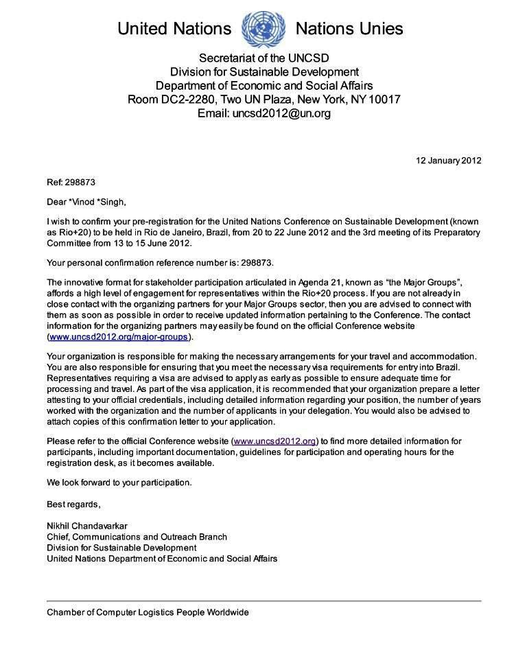 Cover Letter For Un Job  Sample cover letter for Full