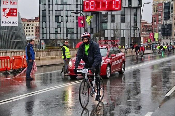 Salida de Mario en la cicloturista de Bilbao