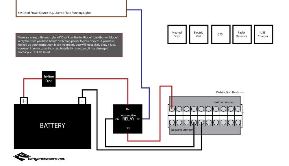 medium resolution of motorcycle relay distribution block wiring diagram