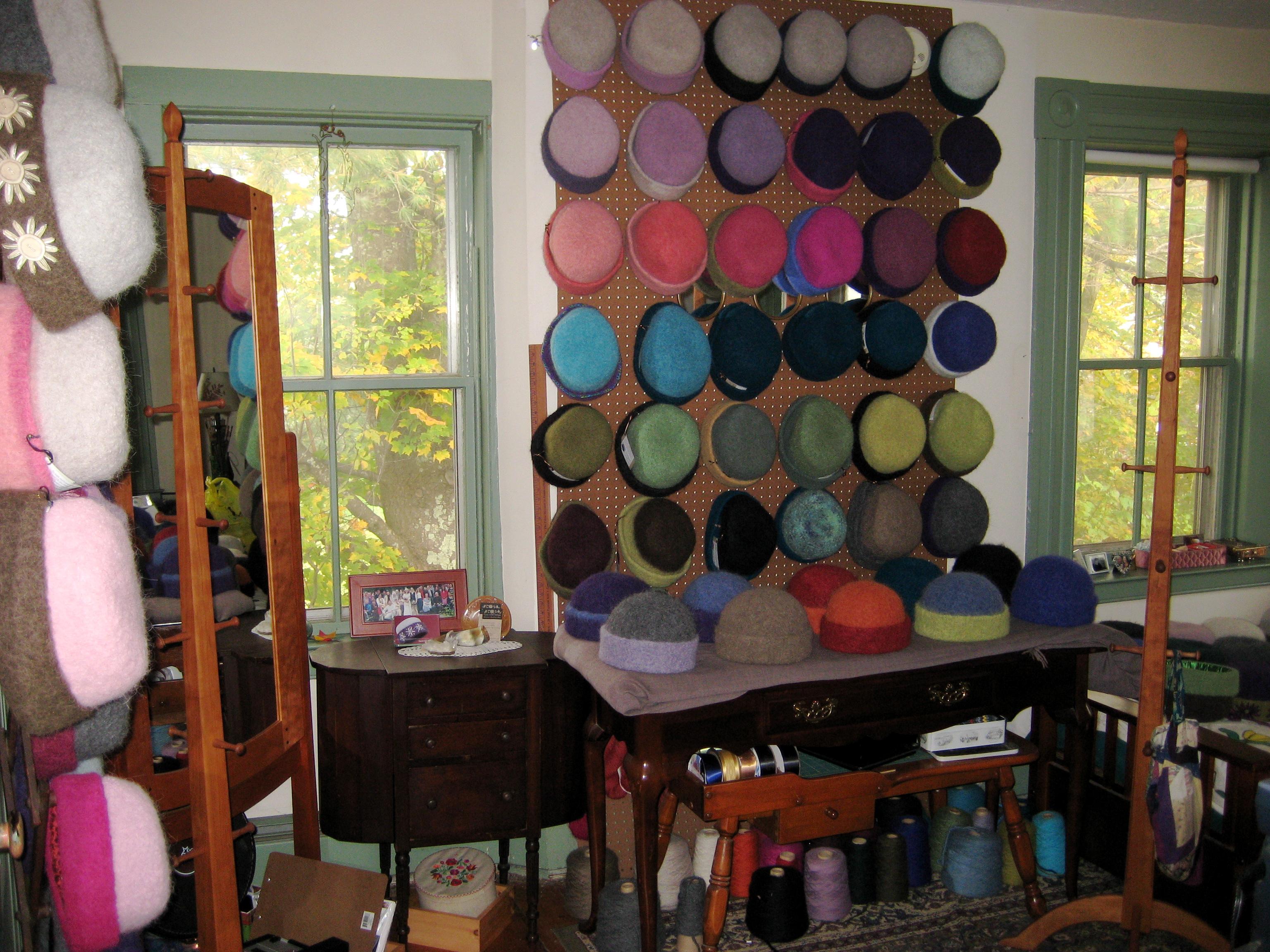 Carrie Cahill Mulligan's felt hat fiber studio.