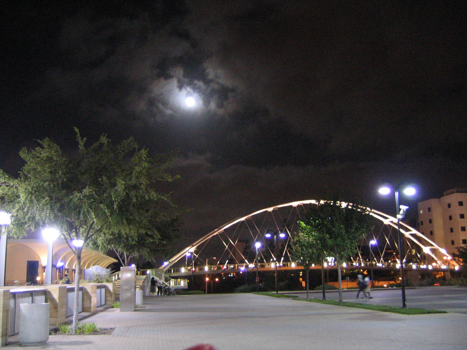 NWEAMO concert night; view east over the SDSU pedestrian bridge
