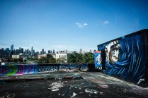 Watching from 5Pointz roof