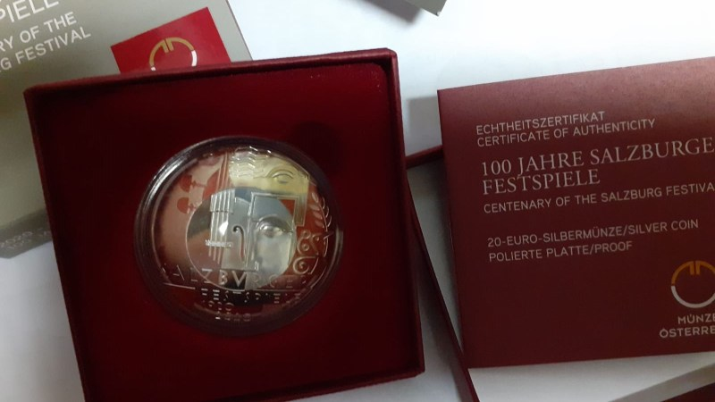 Moneta commemorativa 2020 - CENTENARY OF THE SALZBURG FESTIVAL