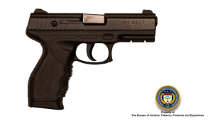 Pistol, ATF photo and logo