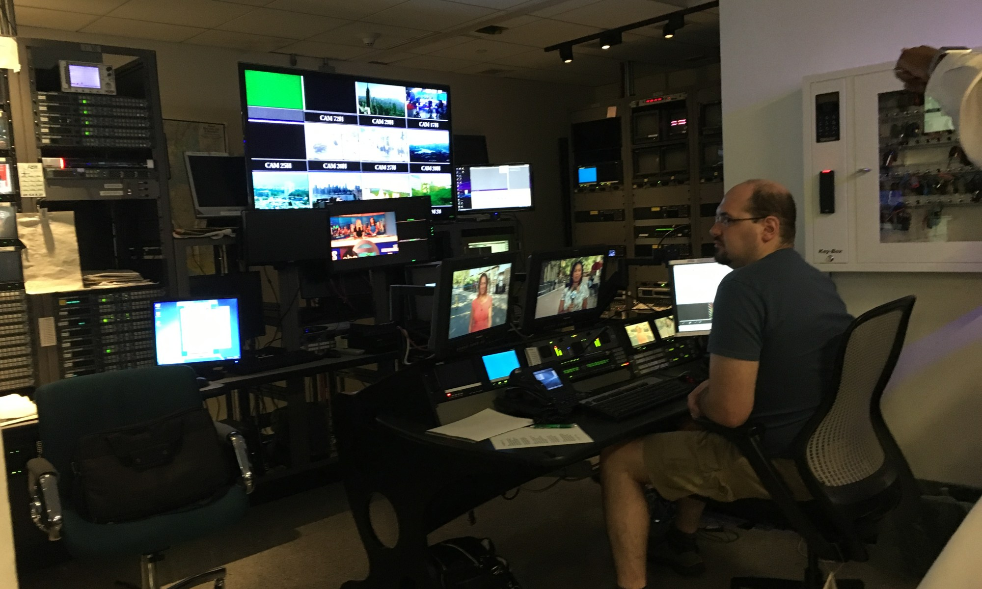 WABC-7 Control Room with single operator.