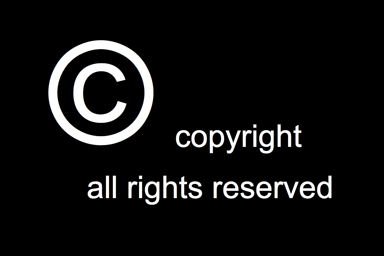 Copyright symbol All Rights Reserve