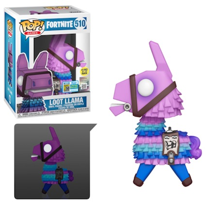 POP GAMES FORTNITE LOOT LAMA Glow  SDCC 2019 VF 510