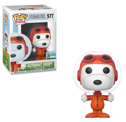 POP ANIMATION PEANUTS ASTRONAUT SNOOPY SDCC 2019 VF 577