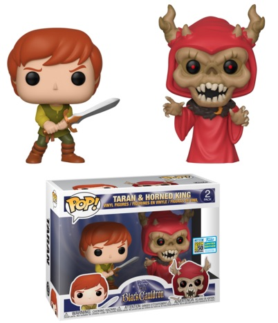 POP DISNEY BLACK CAULDRON TARAN & HORNED KING SDCC 2019 2-PACK VF