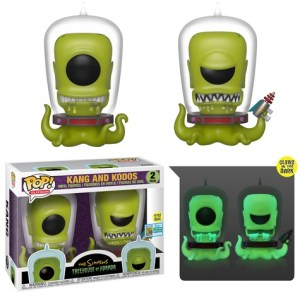 POP TELEVISION SIMPSONS KANG & KODOS Glow  SDCC 2019 2pk VF