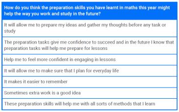 Image of positive student feedback