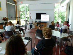 The initial Pet First Aid certification class at Bridgeville Public Library, June 2011.