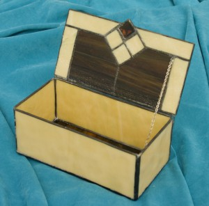 handmade leaded glass boxes for cats, dogs and other pets