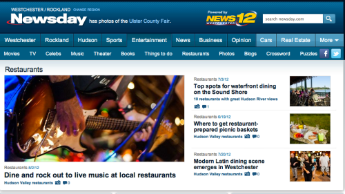 My photo on Newsday NY Restaurants - Cover