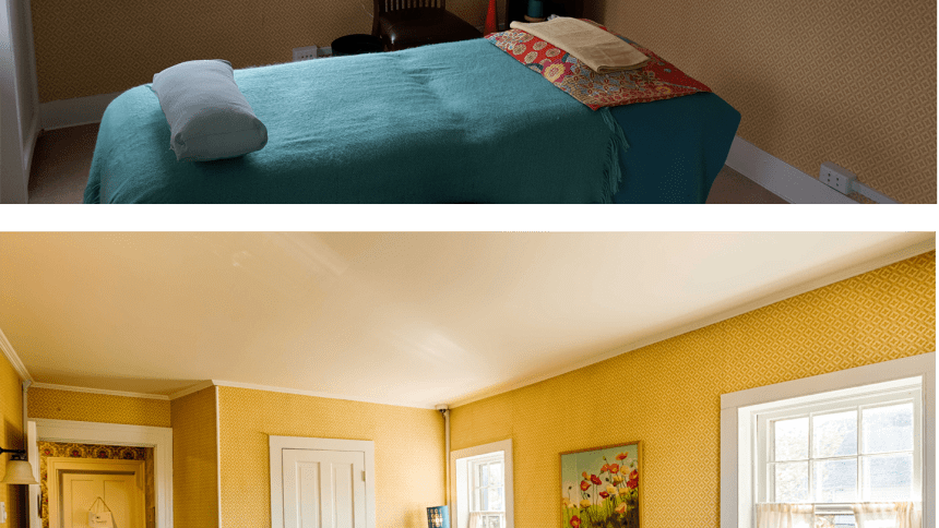 Actual client before vs our pro photograph of an interior space.