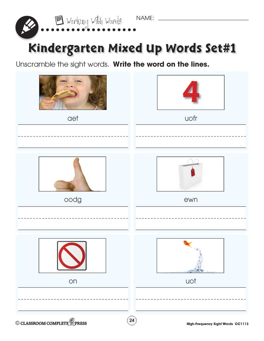hight resolution of High Frequency Sight Words: Handwriting Practice - WORKSHEETS - Grades PK  to 2 - eBook - Worksheets - CCP Interactive