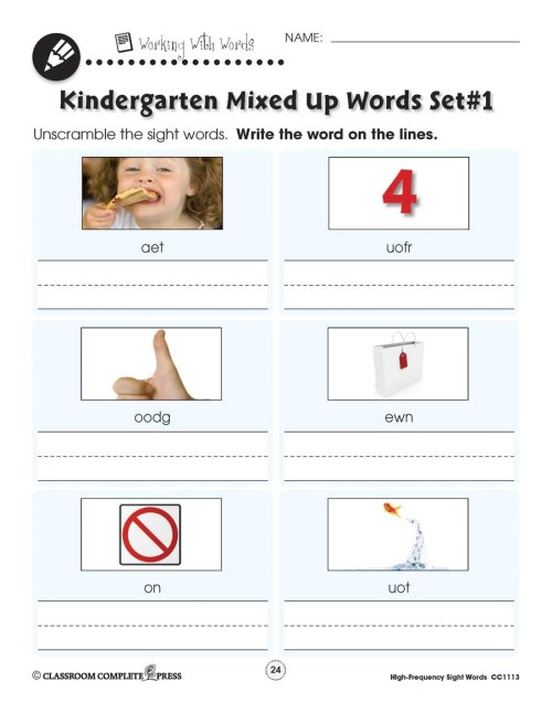 small resolution of High Frequency Sight Words: Handwriting Practice - WORKSHEETS - Grades PK  to 2 - eBook - Worksheets - CCP Interactive