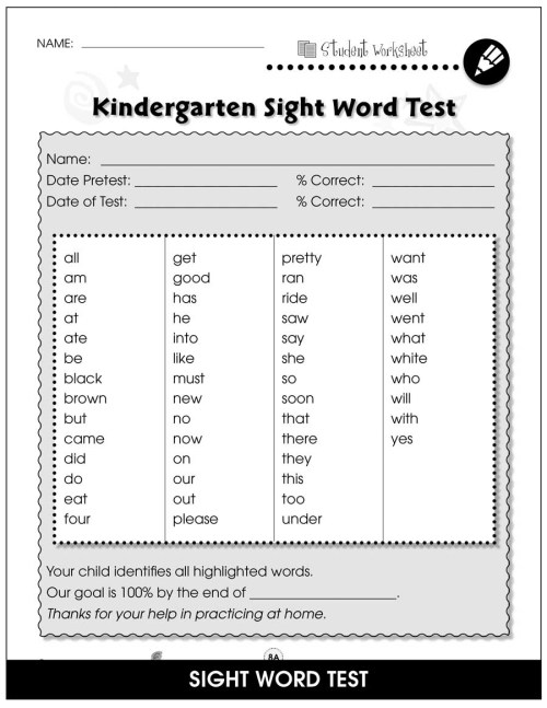 small resolution of High Frequency Sight Words - BONUS WORKSHEETS - Grades K to 1 - eBook -  Bonus Worksheets - CCP Interactive