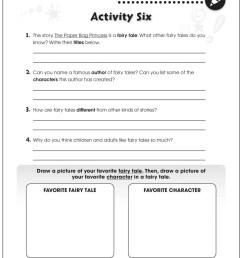 Paper Bag Princess - BONUS WORKSHEETS - Grades 1 to 2 - eBook - Bonus  Worksheets - CCP Interactive [ 1165 x 900 Pixel ]