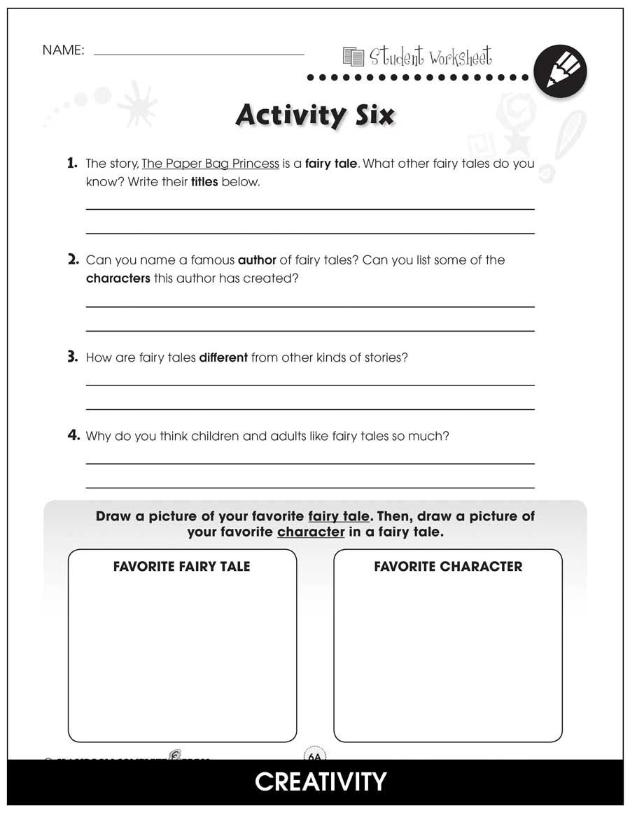 medium resolution of Paper Bag Princess - BONUS WORKSHEETS - Grades 1 to 2 - eBook - Bonus  Worksheets - CCP Interactive