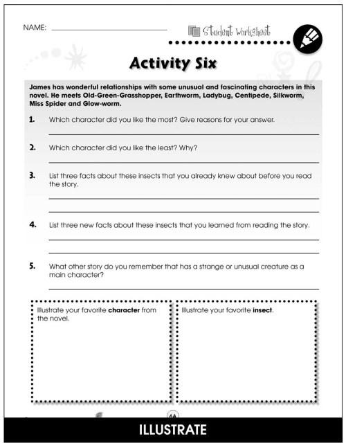 small resolution of James and the Giant Peach - BONUS WORKSHEETS - Grades 3 to 4 - eBook -  Bonus Worksheets - CCP Interactive