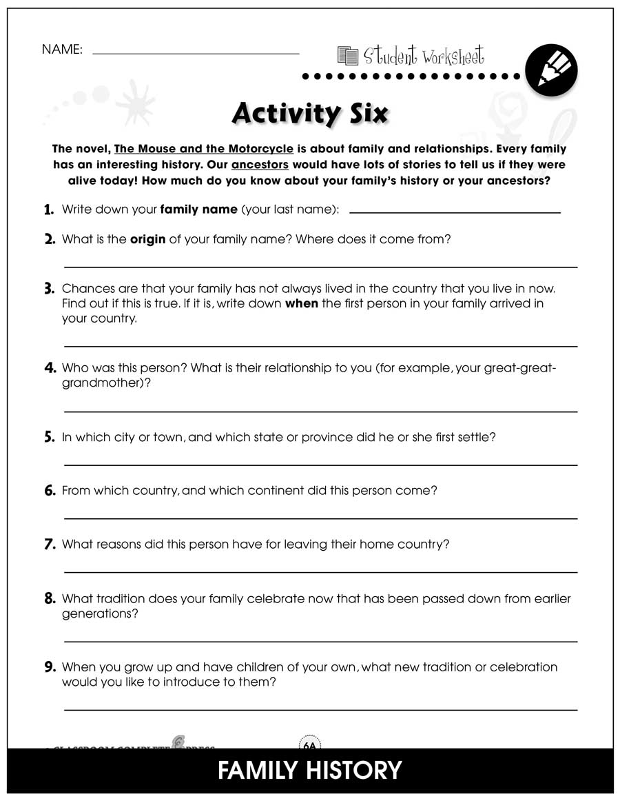 hight resolution of The Mouse and the Motorcycle - BONUS WORKSHEETS - Grades 3 to 4 - eBook -  Bonus Worksheets - CCP Interactive