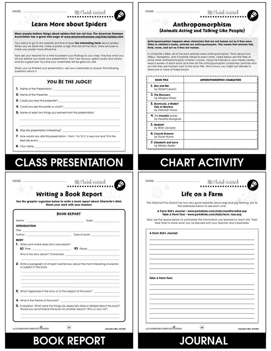 medium resolution of Charlotte's Web - BONUS WORKSHEETS - Grades 3 to 4 - eBook - Bonus  Worksheets - CCP Interactive