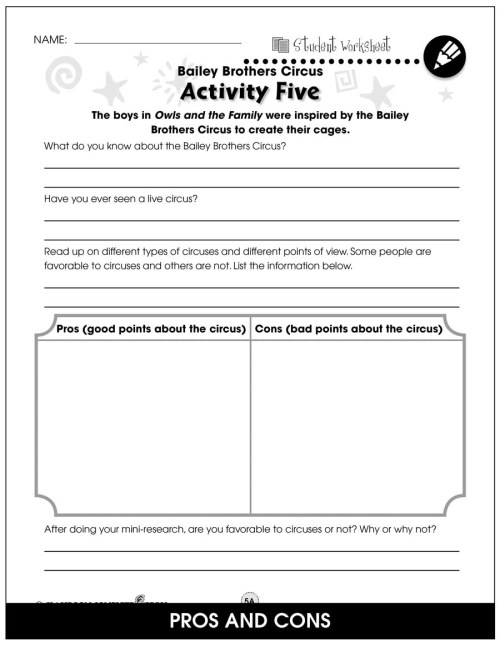 small resolution of Owls in the Family - BONUS WORKSHEETS - Grades 3 to 4 - eBook - Bonus  Worksheets - CCP Interactive
