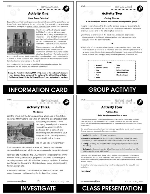 small resolution of The Family Under the Bridge - BONUS WORKSHEETS - Grades 3 to 4 - eBook -  Bonus Worksheets - CCP Interactive