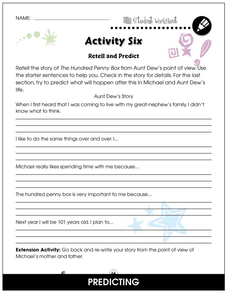 medium resolution of The Hundred Penny Box - BONUS WORKSHEETS - Grades 3 to 4 - eBook - Bonus  Worksheets - CCP Interactive