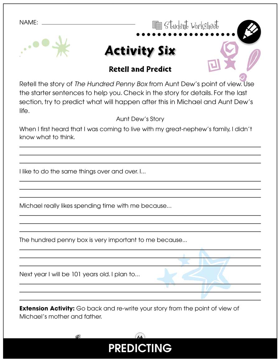 hight resolution of The Hundred Penny Box - BONUS WORKSHEETS - Grades 3 to 4 - eBook - Bonus  Worksheets - CCP Interactive