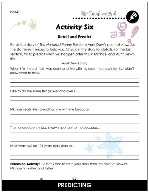 small resolution of The Hundred Penny Box - BONUS WORKSHEETS - Grades 3 to 4 - eBook - Bonus  Worksheets - CCP Interactive