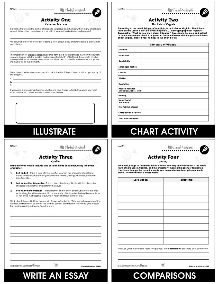 hight resolution of Bridge to Terabithia - BONUS WORKSHEETS - Grades 5 to 6 - eBook - Bonus  Worksheets - CCP Interactive