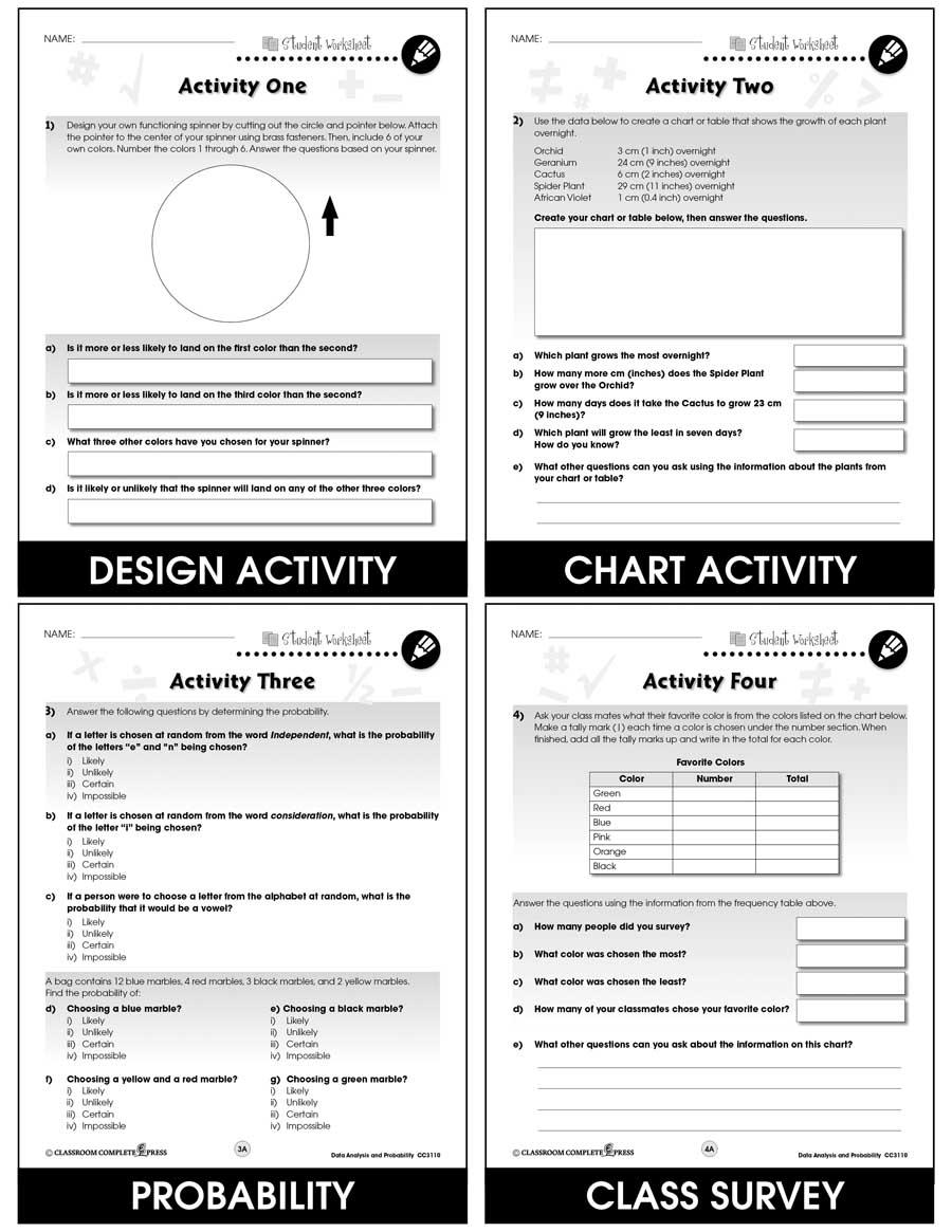 medium resolution of Data Analysis \u0026 Probability - Task Sheets Gr. 3-5 - BONUS WORKSHEETS - Grades  3 to 5 - eBook - Bonus Worksheets - CCP Interactive