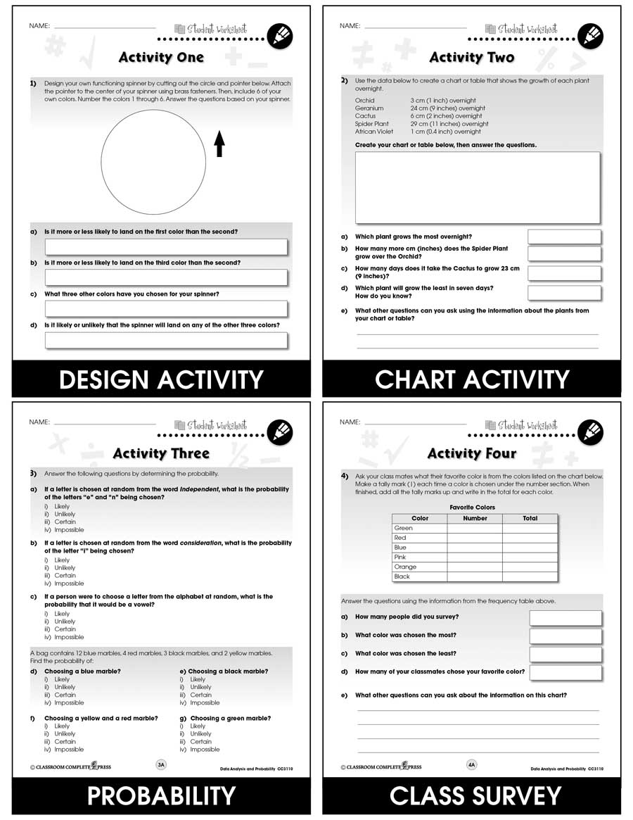 hight resolution of Data Analysis \u0026 Probability - Task Sheets Gr. 3-5 - BONUS WORKSHEETS - Grades  3 to 5 - eBook - Bonus Worksheets - CCP Interactive
